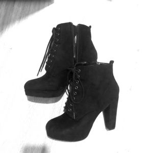 Black heeled boots, ankle boots, booties